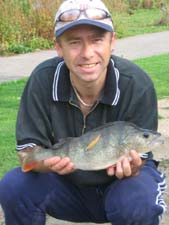 Paul with a cracking 1lb 10oz perch